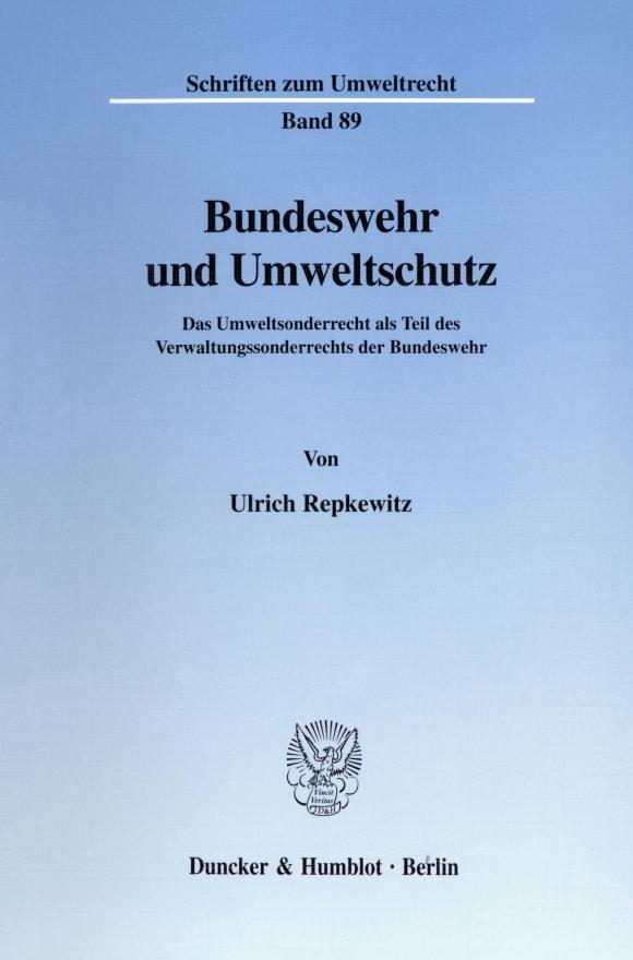 Cover Bundeswehr und Umweltschutz