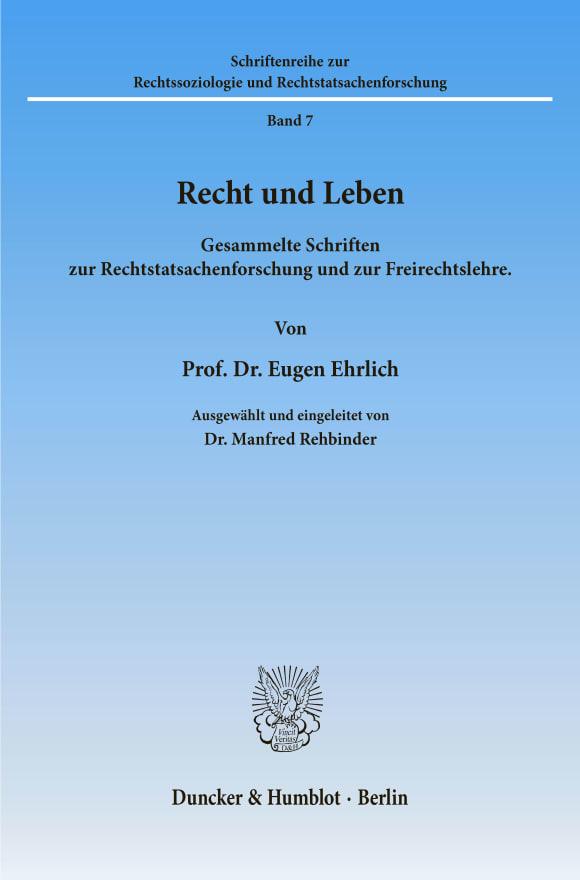 Cover Recht und Leben