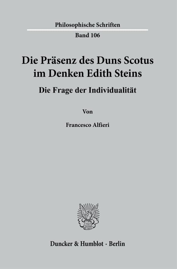Cover Die Präsenz des Duns Scotus im Denken Edith Steins