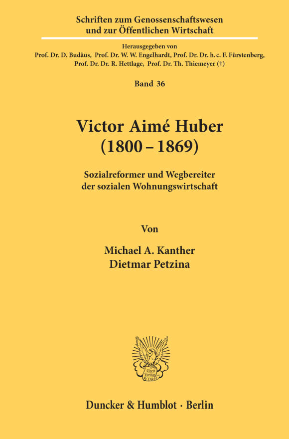 Cover Victor Aimé Huber (1800-1869)
