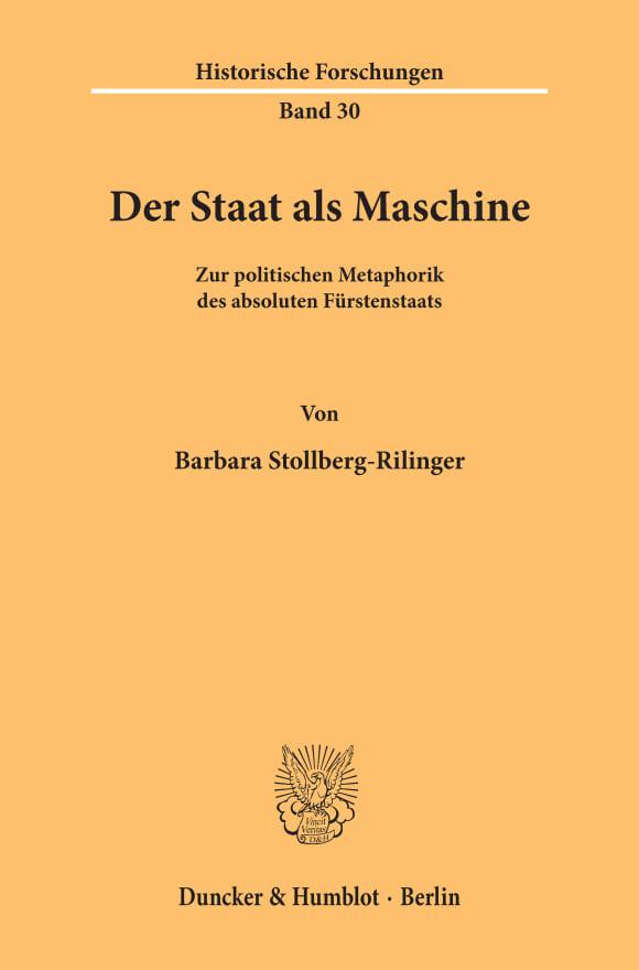 Cover Der Staat als Maschine