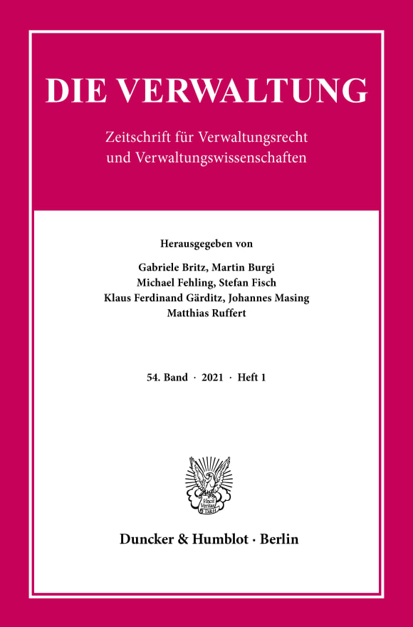 Cover VERW 1/2021