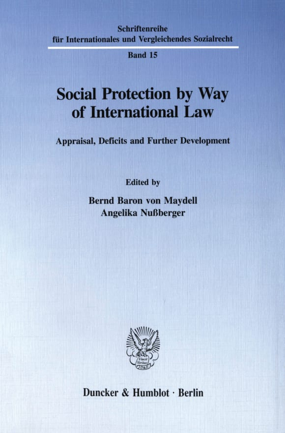 Cover Social Protection by Way of International Law