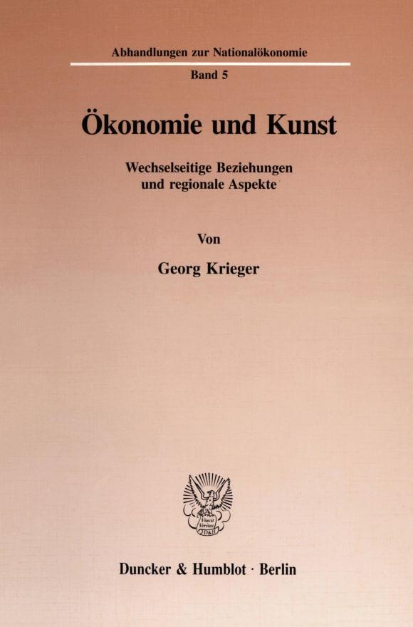 Cover Ökonomie und Kunst