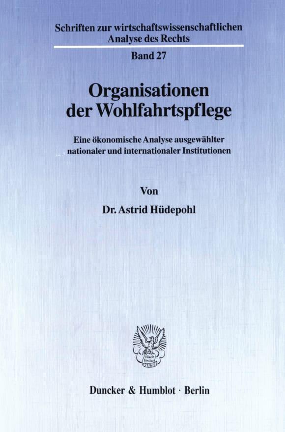 Cover Organisationen der Wohlfahrtspflege