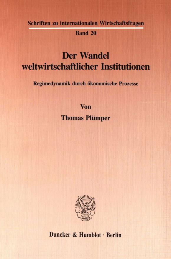 Cover Der Wandel weltwirtschaftlicher Institutionen