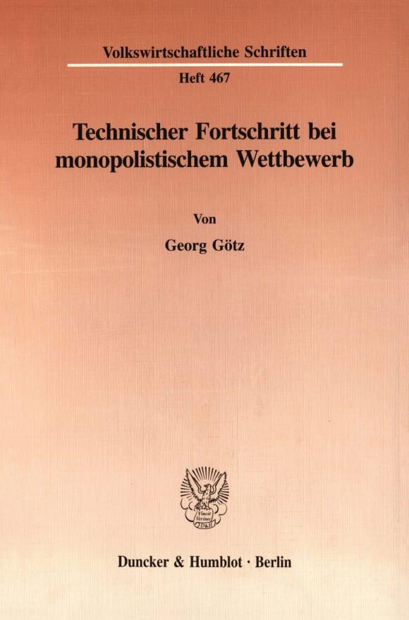 Cover Technischer Fortschritt bei monopolistischem Wettbewerb