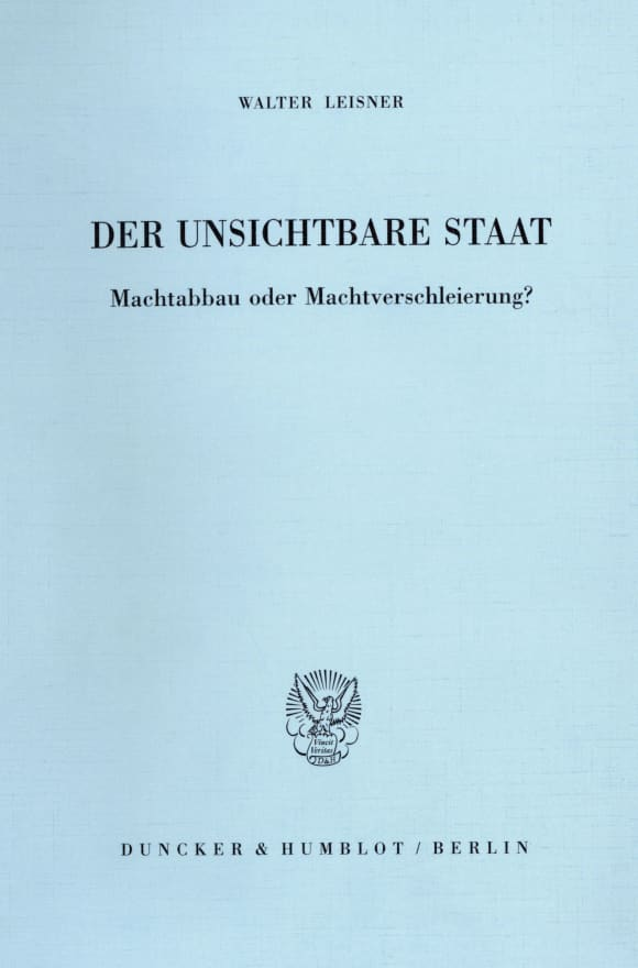 Cover Der Unsichtbare Staat