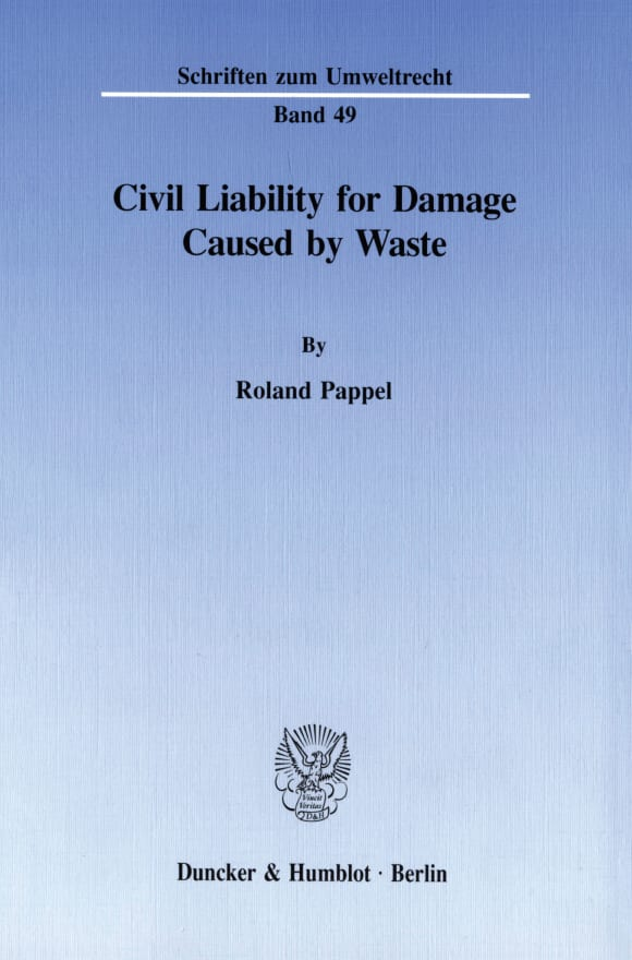 Cover Civil Liability for Damage Caused by Waste