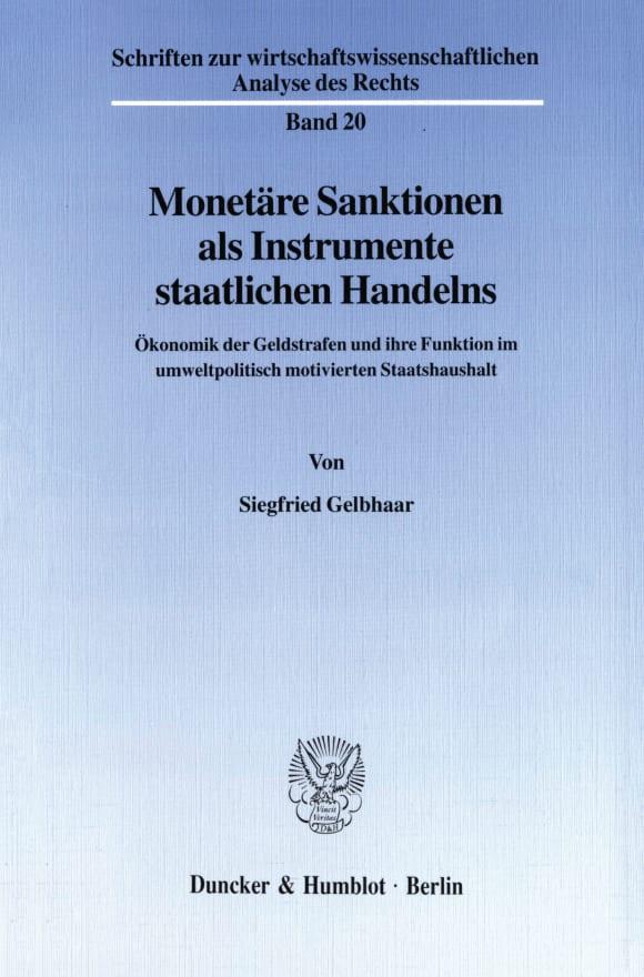 Cover Monetäre Sanktionen als Instrumente staatlichen Handelns