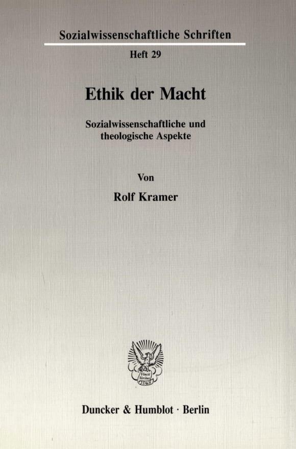 Cover Ethik der Macht