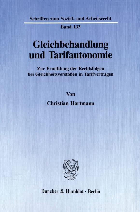 Cover Gleichbehandlung und Tarifautonomie