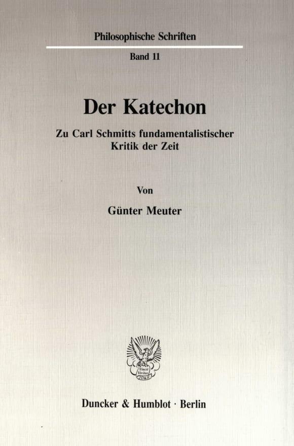 Cover Der Katechon