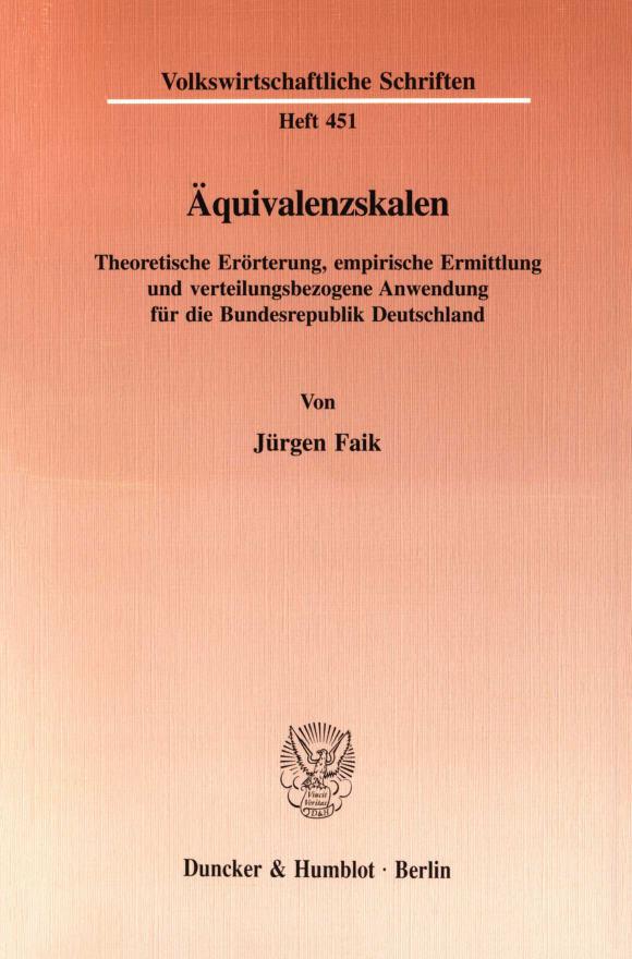 Cover Äquivalenzskalen
