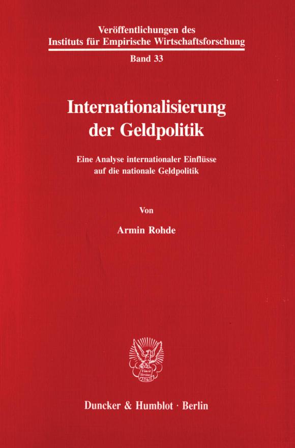 Cover Internationalisierung der Geldpolitik