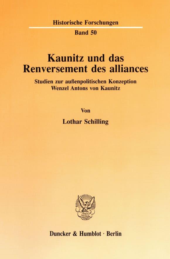 Cover Kaunitz und das Renversement des alliances