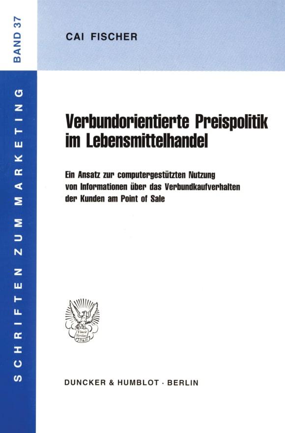 Cover Verbundorientierte Preispolitik im Lebensmittelhandel