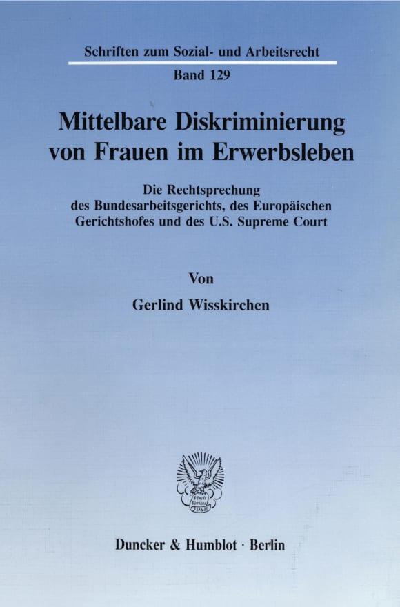 Cover Mittelbare Diskriminierung von Frauen im Erwerbsleben
