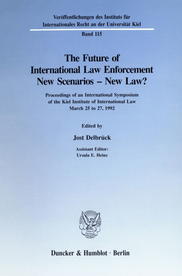 Cover The Future of International Law Enforcement. New Scenarios - New Law?