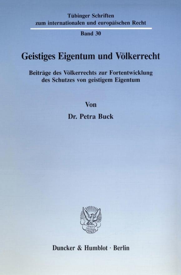 Cover Geistiges Eigentum und Völkerrecht