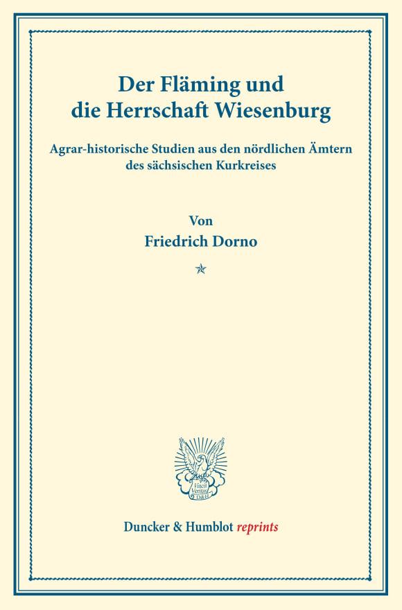 Cover Der Fläming und die Herrschaft Wiesenburg