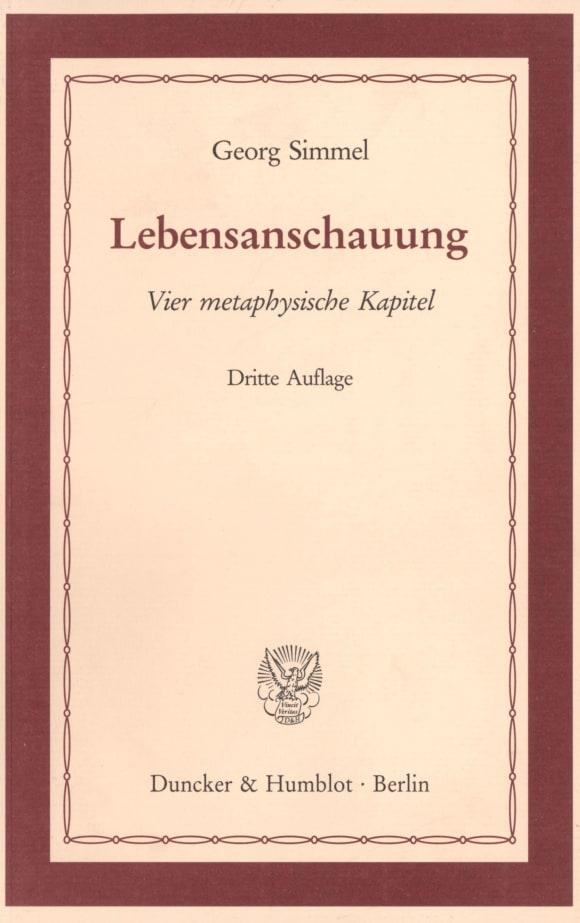 Cover Lebensanschauung