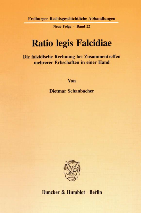 Cover Ratio legis Falcidiae