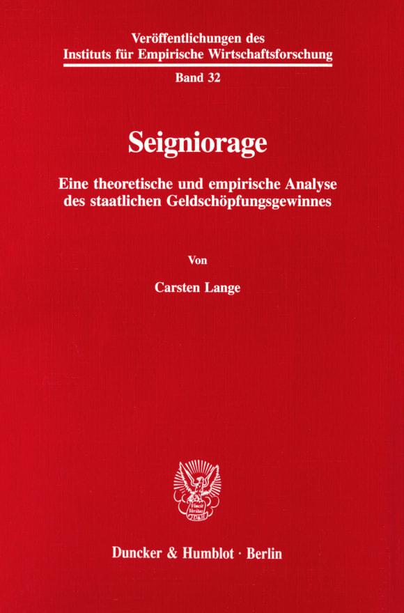 Cover Seigniorage