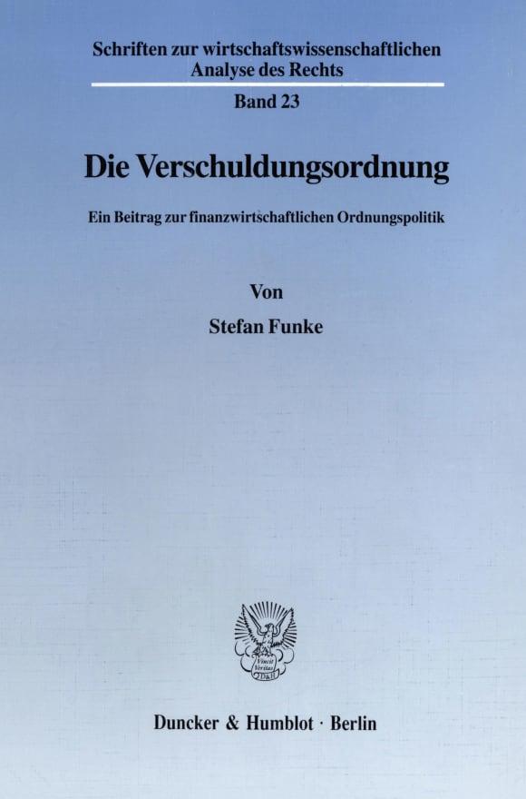 Cover Die Verschuldungsordnung