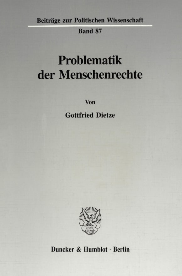 Cover Problematik der Menschenrechte