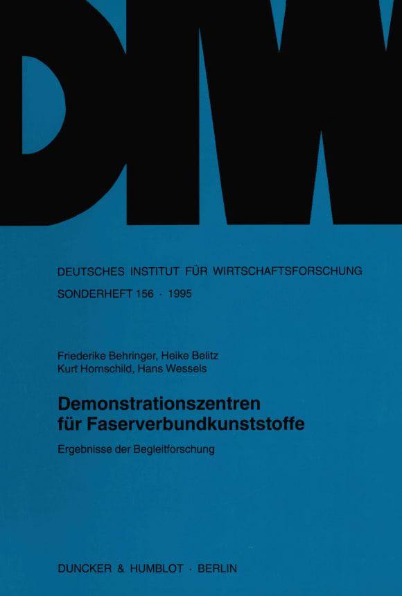 Cover Demonstrationszentren für Faserverbundkunststoffe