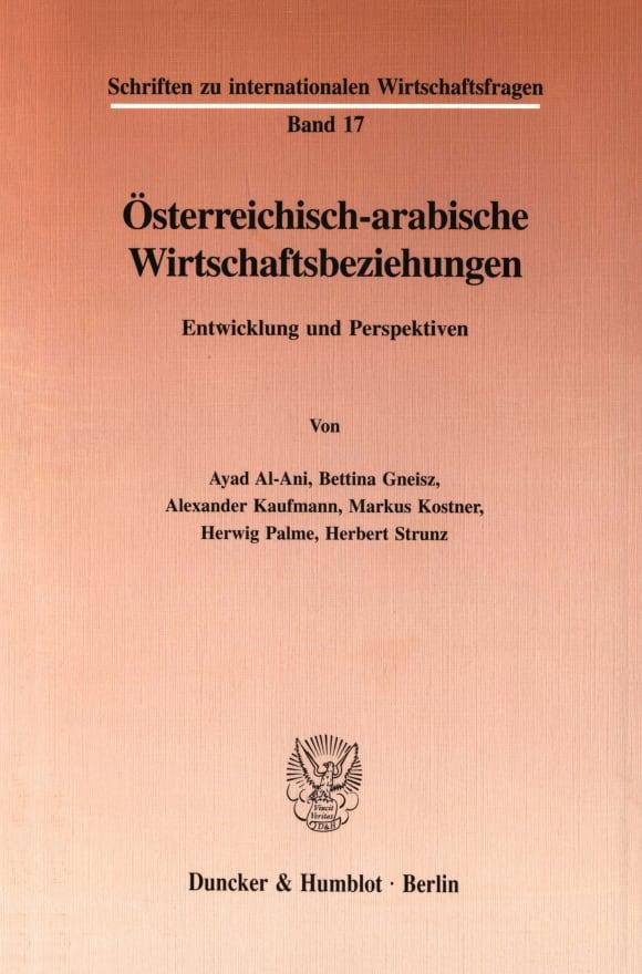 Cover Österreichisch-arabische Wirtschaftsbeziehungen
