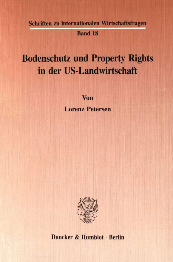 Cover Bodenschutz und Property Rights in der US-Landwirtschaft