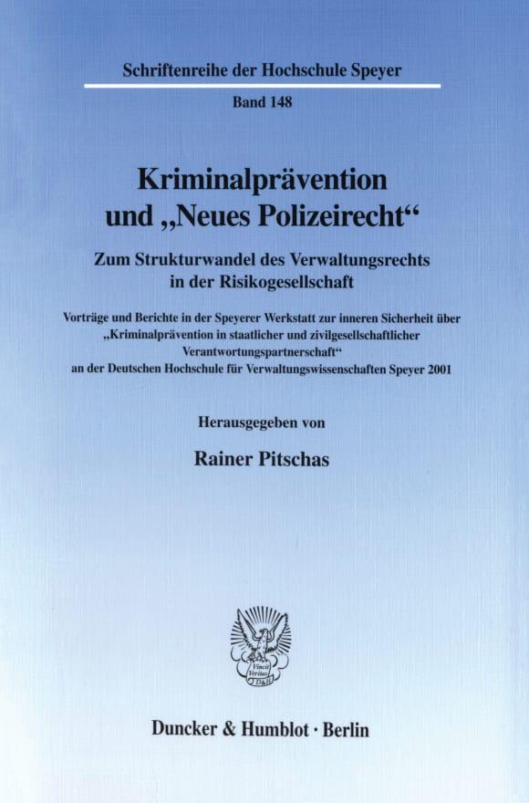 Cover Kriminalprävention und »Neues Polizeirecht«
