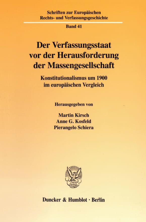 Cover Der Verfassungsstaat vor der Herausforderung der Massengesellschaft