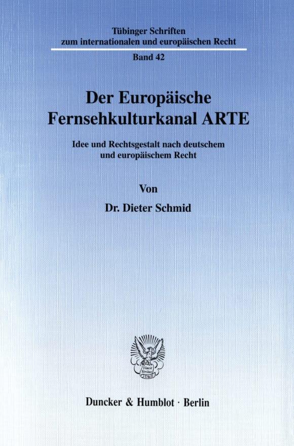 Cover Der Europäische Fernsehkulturkanal ARTE