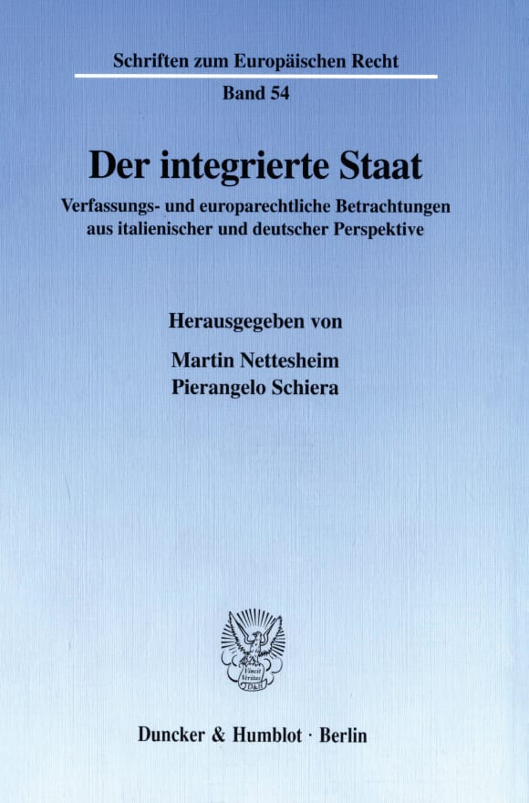 Cover Der integrierte Staat