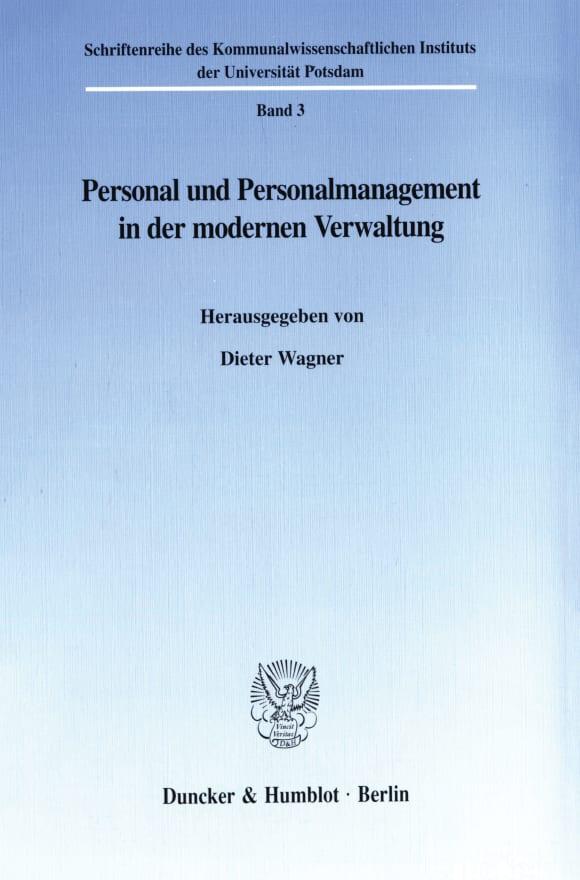 Cover Personal und Personalmanagement in der modernen Verwaltung