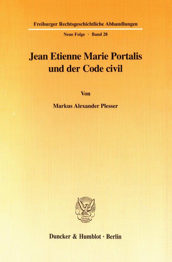 Cover Jean Etienne Marie Portalis und der Code civil