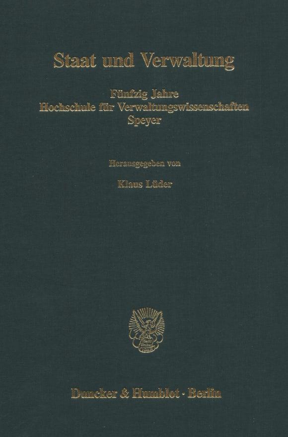 Cover Staat und Verwaltung