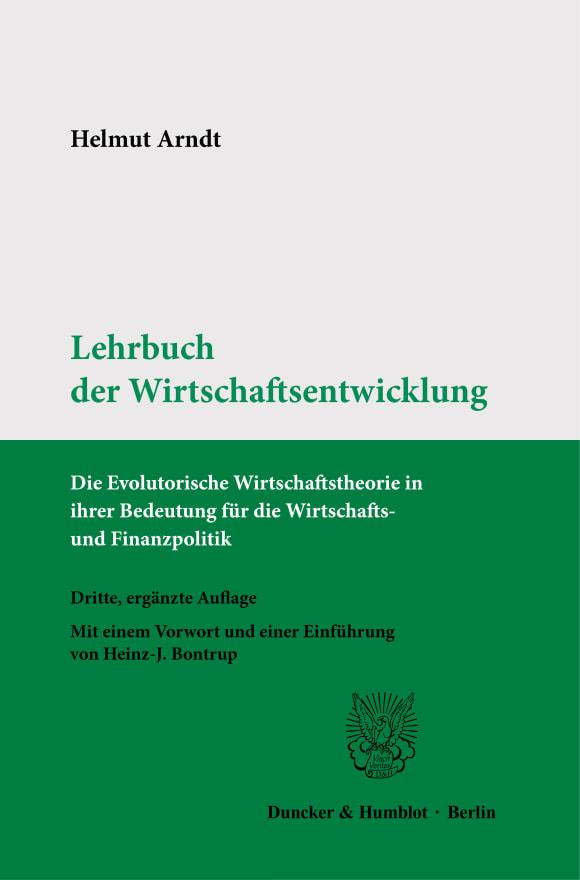 Cover Lehrbuch der Wirtschaftsentwicklung