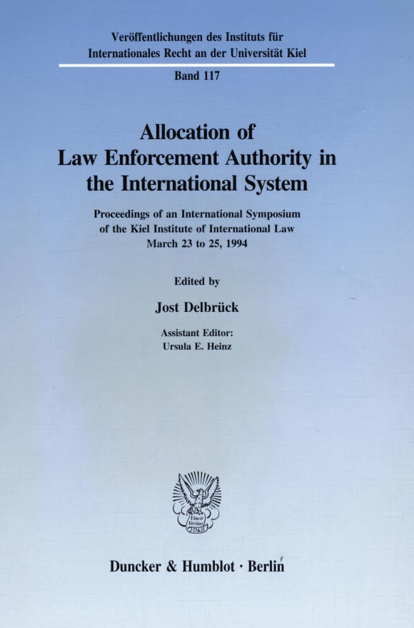 Cover Allocation of Law Enforcement Authority in the International System