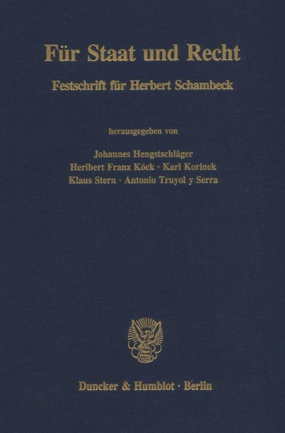 Cover Für Staat und Recht