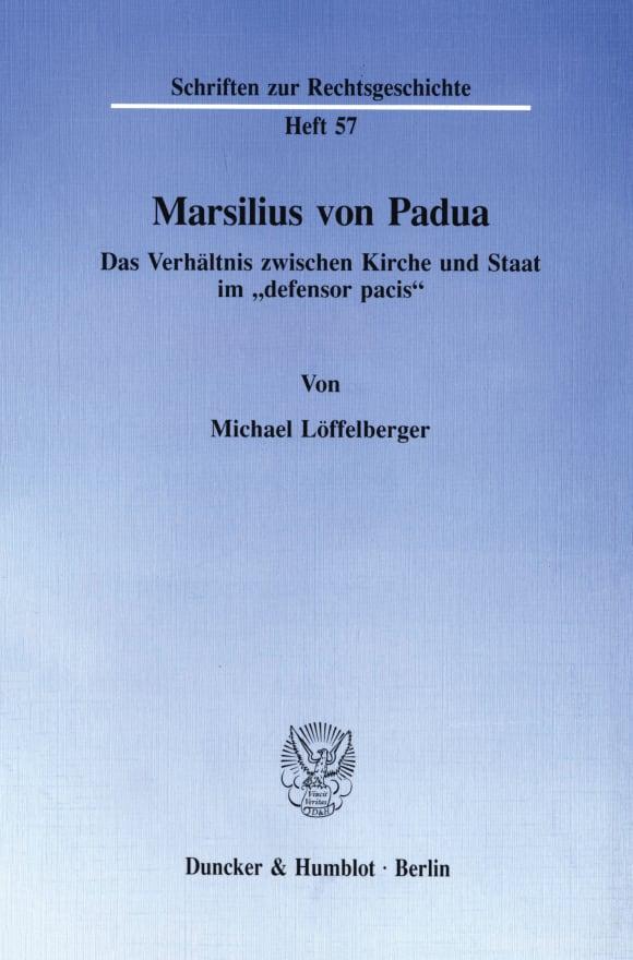 Cover Marsilius von Padua