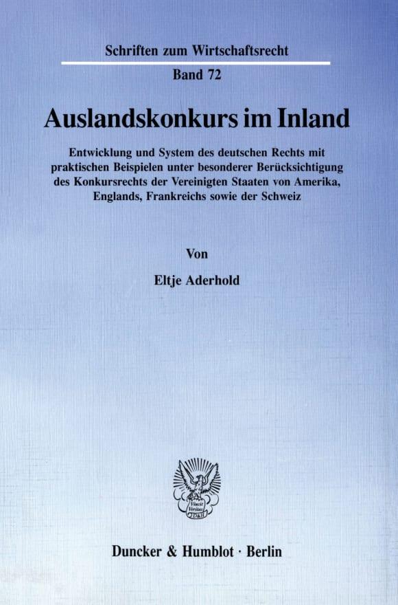 Cover Auslandskonkurs im Inland