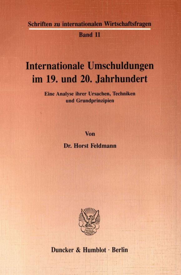 Cover Internationale Umschuldungen im 19. und 20. Jahrhundert