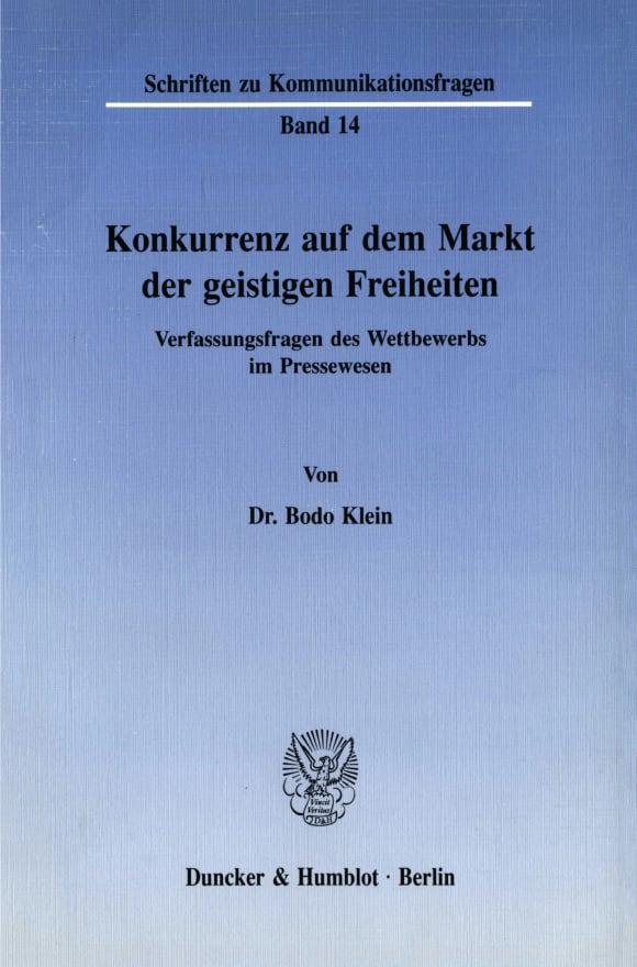 Cover Konkurrenz auf dem Markt der geistigen Freiheiten