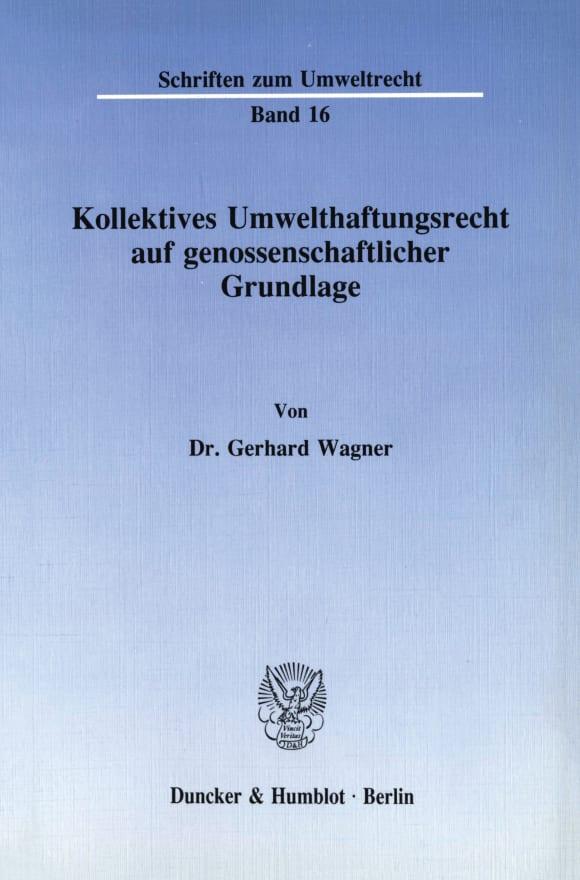 Cover Kollektives Umwelthaftungsrecht auf genossenschaftlicher Grundlage