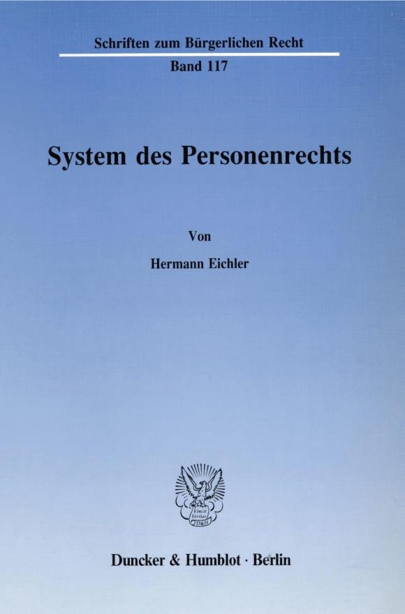 Cover System des Personenrechts