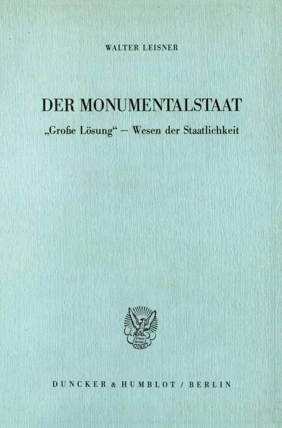 Cover Der Monumentalstaat
